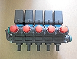 5-section block of solenoid valves with reverse flow regulation (46301551)